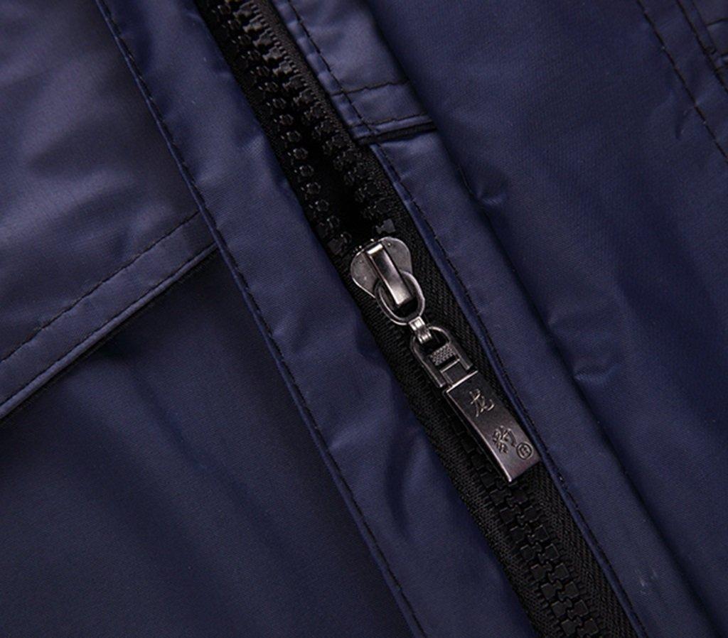 Size : L RFJJAL Unisex Adult Waterproof Split Raincoat Suit,Thick Double-Faced Rain Coat Pants Set,Luminous Plus Fertilizer Plus Size Rainwear Set,Jujube Red