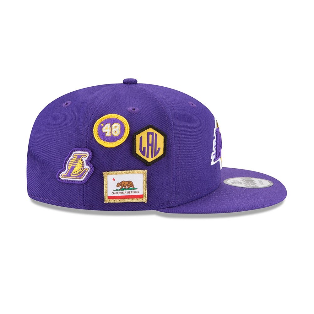 los angeles 10dc2 13d83 Amazon.com   New Era Los Angeles Lakers 2018 NBA Draft Cap 9FIFTY Snapback Adjustable  Hat- Purple   Sports   Outdoors