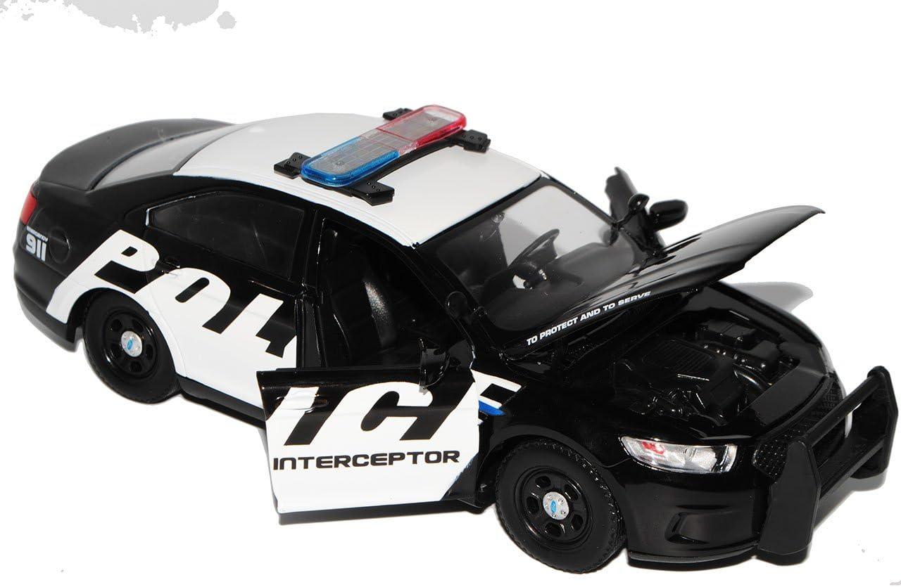 Motormax Ford Interceptor Police Polizei Limousine 2013 1//24 Modell Auto mit individiuellem Wunschkennzeichen