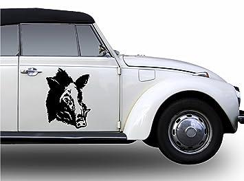 2x Keiler Aufkleber Keileraufkleber Wildschwein Auto Farbwahl 40cm