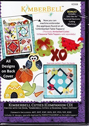 Kimberbell Cuties Companion CD Machine Embroidery KD508 Patterns