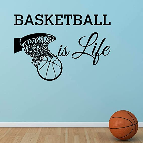 Basketball Is Life Tatuajes de pared Cita Baloncesto Hoop ...