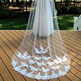 Bridal Lace Veil, Wedding Lace Veil, White Bridal Veil, Ivory Wedding Veil