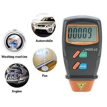 Handheld Digital LCD Display Laser Tachometer RPM Test Engine Motor Speed GaugeT