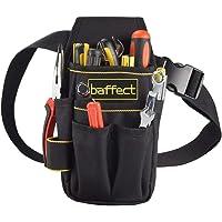 Baffect - Bolsa de herramientas de lona con cinturón de nailon ajustable, resistente y profesional, para electricistas…