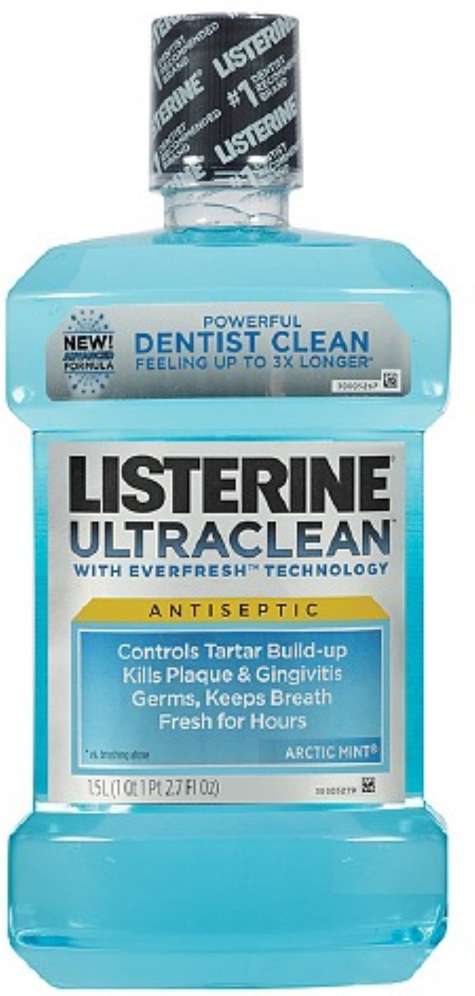 Listerine Uclean Artcmint Size 50.7o Listerine Ultra Clean Rinse Artic Mint 1.5 Liter / 50.7 Oz