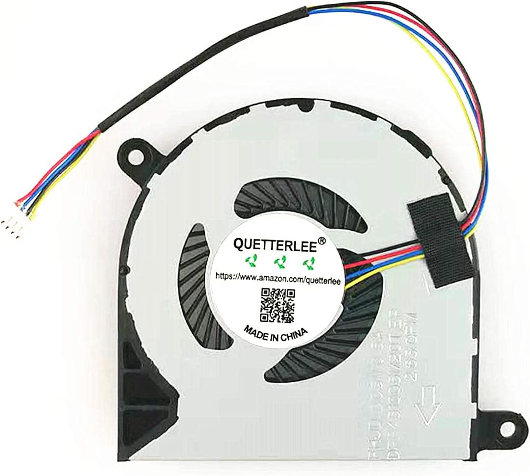 QUETTERLEE Replacement New CPU Cooling Fan for Dell Inspiron 15 5568 7368 7569 7579 Inspiron 13 5368 5378 5379 Series 031TPT 023.1006M.0012 DFB451005M20TEP FHJD 5V 0.5A Fan