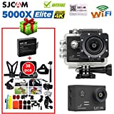 Boblov SJCAM SJ5000X Elite Action Camera 4K 1080P 24 Fps WiFi Waterproof 170°Wide Angle Lens 12MP SONY IMX078 Gyro AV or HDMI Out OSD Enabled Sports Helmet Camera( Camera+38 in1 Accessories)