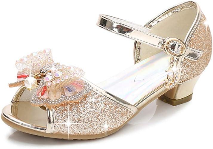 Sweet Popular Kids Girls Summer Dress Up High Heels Sandals Princess Shoes