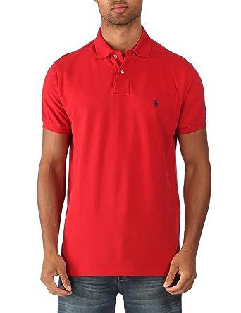 Ralph Lauren - Polo classique - coupe ajustée - homme - rouge millénium -  Taille XXL 9f7c92a5b9ec