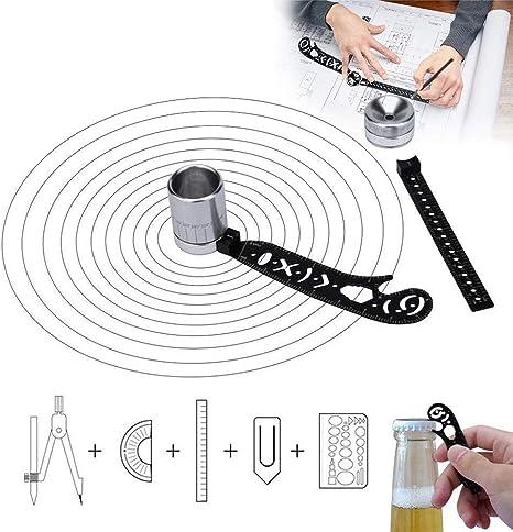 Magnétique Dessin Règle Multi Fonction En Acier Inoxydable Outil de mesure pour EDC
