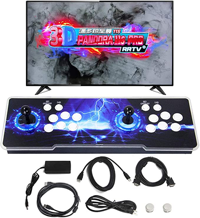SupYaque Pandora Box Retro Video Arcade Games Console Support 3D Games  Built-in 3300 Games,Search Games Function,Favorite List,1280x720P with  Double ...