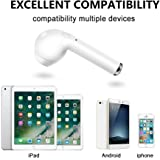 Wireless Ear Pod ,Bluetooth Earbud, Wireless Headset In-Ear Earphone for Apple iPhone X 8 7 7 plus 6s 6s plus and Samsung Galaxy S7 S8 and LG HTC Android Smartphone (Single right ear-white)