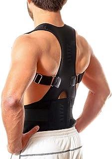nuiko Unisexe Correcteur de posture Dos bretelles Epaule Taille Ceinture de soutien lombaire Bosse à bosse Empêcher le corps redresser Slouch Compression Soulagement de la douleur