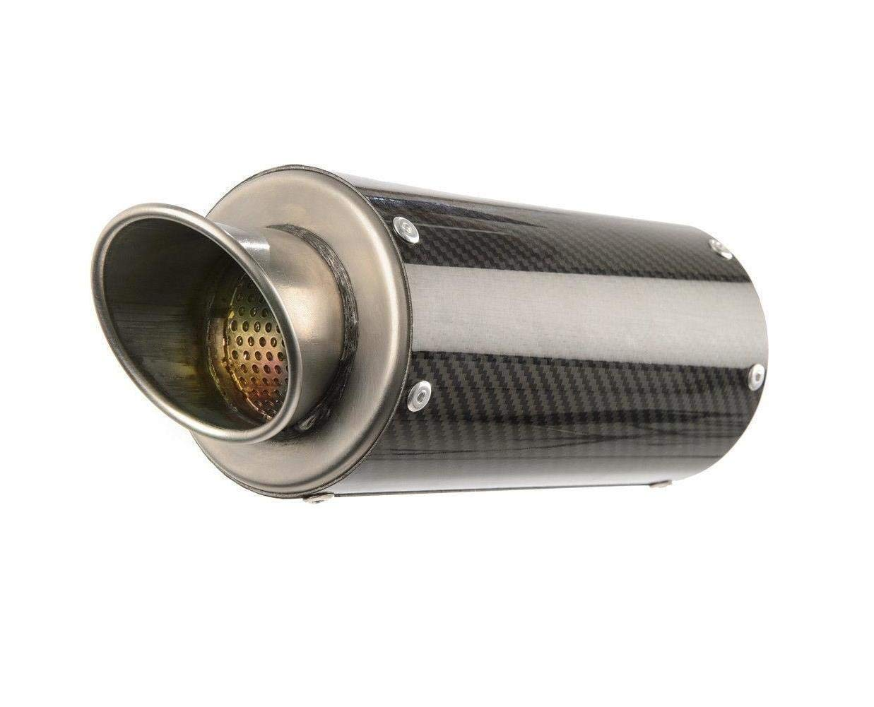 Hotbodies Racing 17-18 BMW S1000RR MGP Growler Slip-On Exhaust (Carbon Fiber with Rolled Tip)
