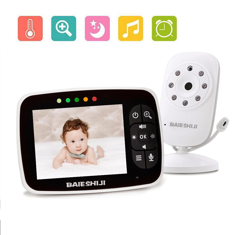 Baby Monitor With Camera 3.5 Two Way Talk Audio Night Vision Video LCD Temperature System /…