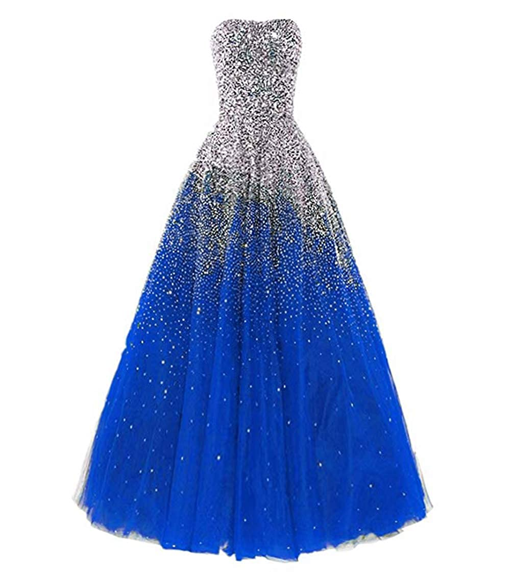 b20148aaf45d Amazon.com: Dressesonline Women's Luxury Prom Dresses Long with Rhinestones  Evening Pageant Gowns: Clothing