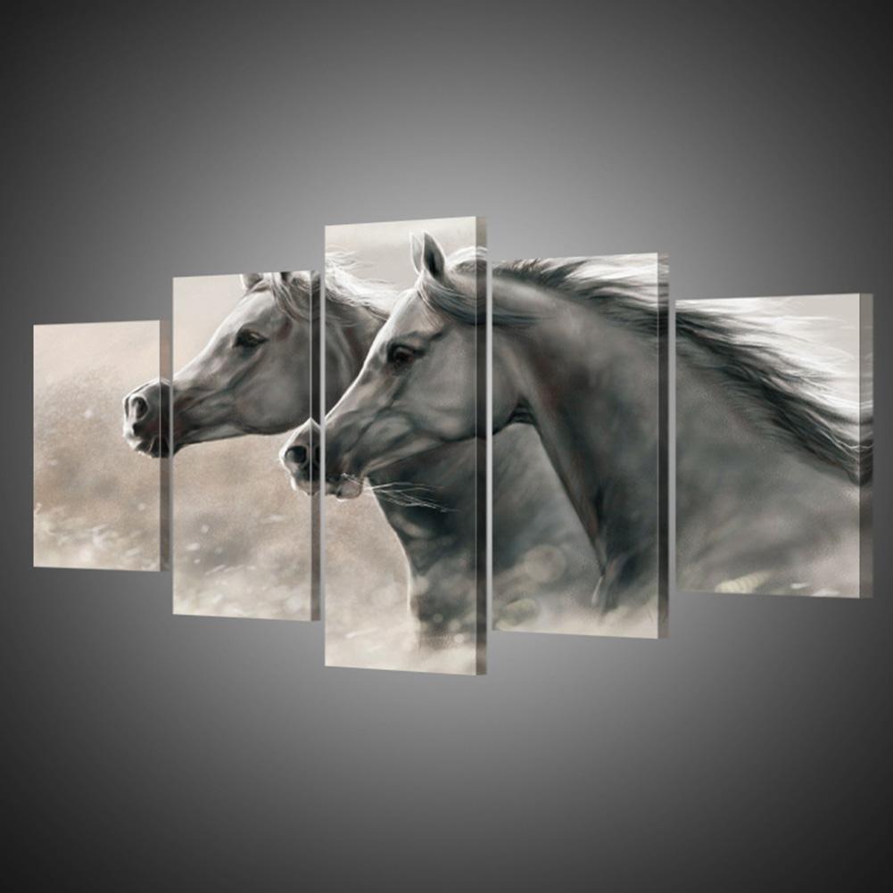 Extra Große Leinwand Handgemaltes Pferd Leinwand Wohnzimmer Dekorative Malerei Wandmalereien , With Borders , GrößeA B076PB4YMC | Ideales Geschenk für alle Gelegenheiten