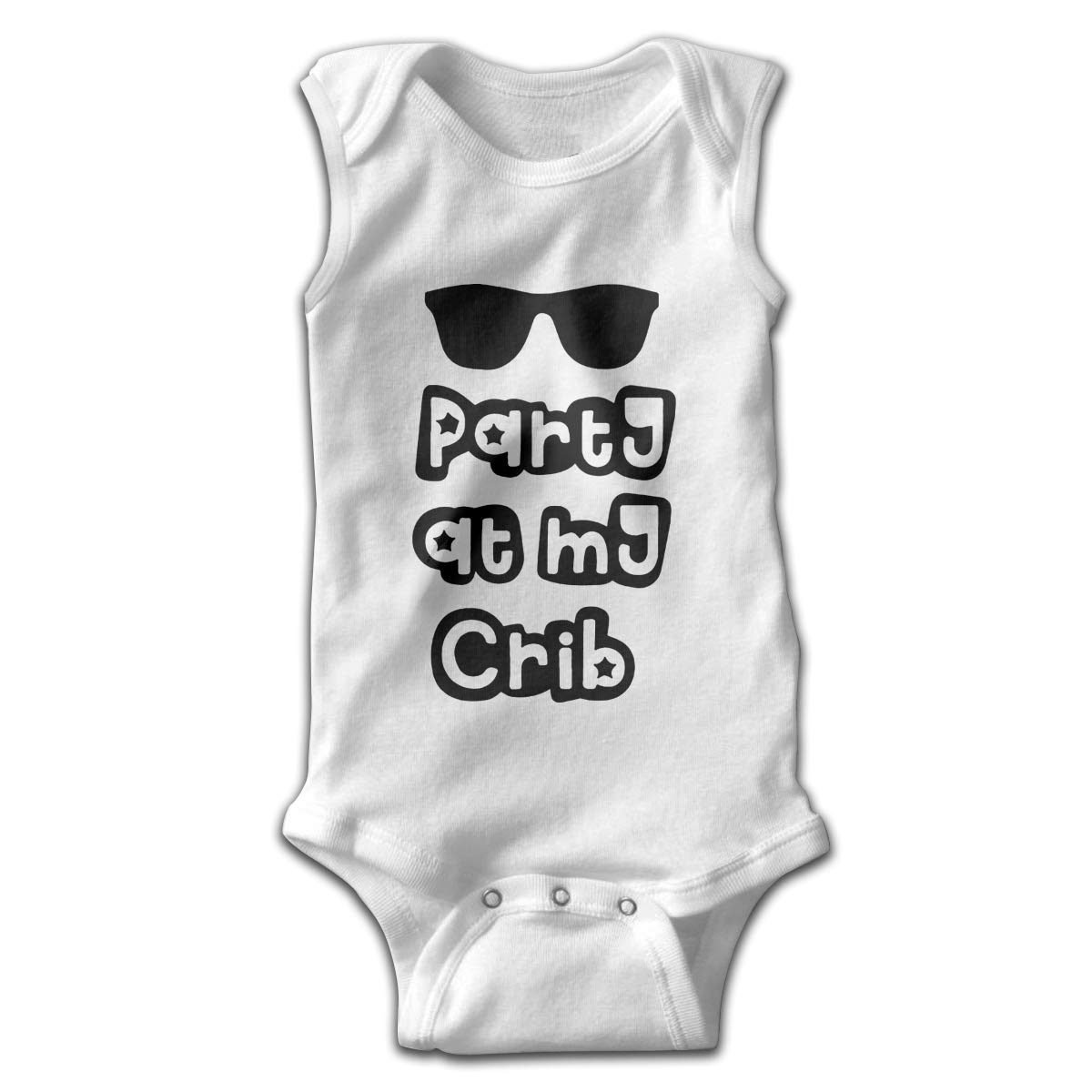 Party at My Crib Newborn Baby Clothes Bodysuit Sleeveless Summer Novelty Funny Gift for Baby