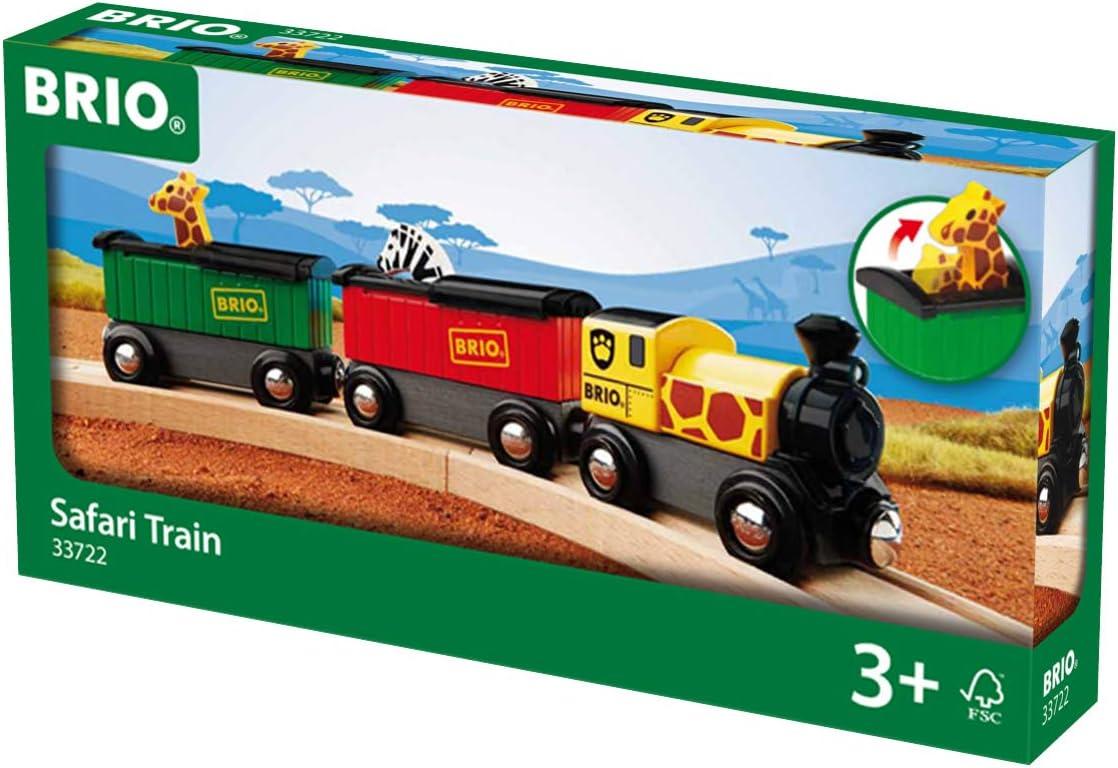 Brio World - 33722 Safari Train   3 Piece Toy Train Accessory für Kids Alter 3 und Up