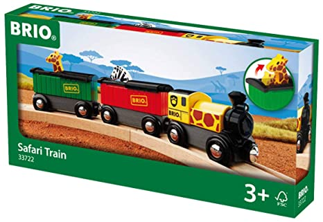 Brio World 33722 Safari Train 3 Piece Toy Train Accessory For Kids Age 3 And Up