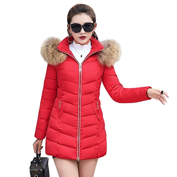 Sentao Slim Fit Abrigo Chaqueta Acolchado Parka de Mujer con Capucha de  Pelaje Sintética para Invierno  Amazon.es  Ropa y accesorios 8ce509e8771a