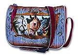 Kleine - PFERDE - Schultertasche / Handtasche / Tasche + 16 Pferde Sticker - Kinder Umhängetasche
