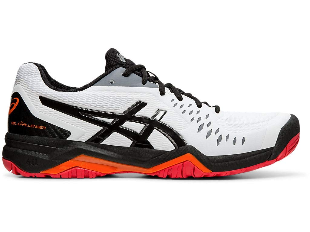 ASICS Men's Gel-Challenger 12 Court Shoes, 10.5M, White/Black by ASICS