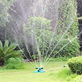 Blisstime Lawn Sprinkler, Automatic 360 Rotating Adjustable Garden Water Sprinklers Lawn Irrigation System