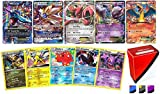 Assortmart Pokemon ULTRA RARE lot - 5 Random Cards ALL ULTRA RARE! 1 GX 1 MEGA 3 EX GUARANTEED! Includes Limited Edition Totem Deck Box!