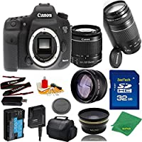 Great Value Bundle for 7D MARK II DSLR – 18-55mm STM + 75-300mm III + 32GB Memory + Wide Angle + Telephoto Lens + Case