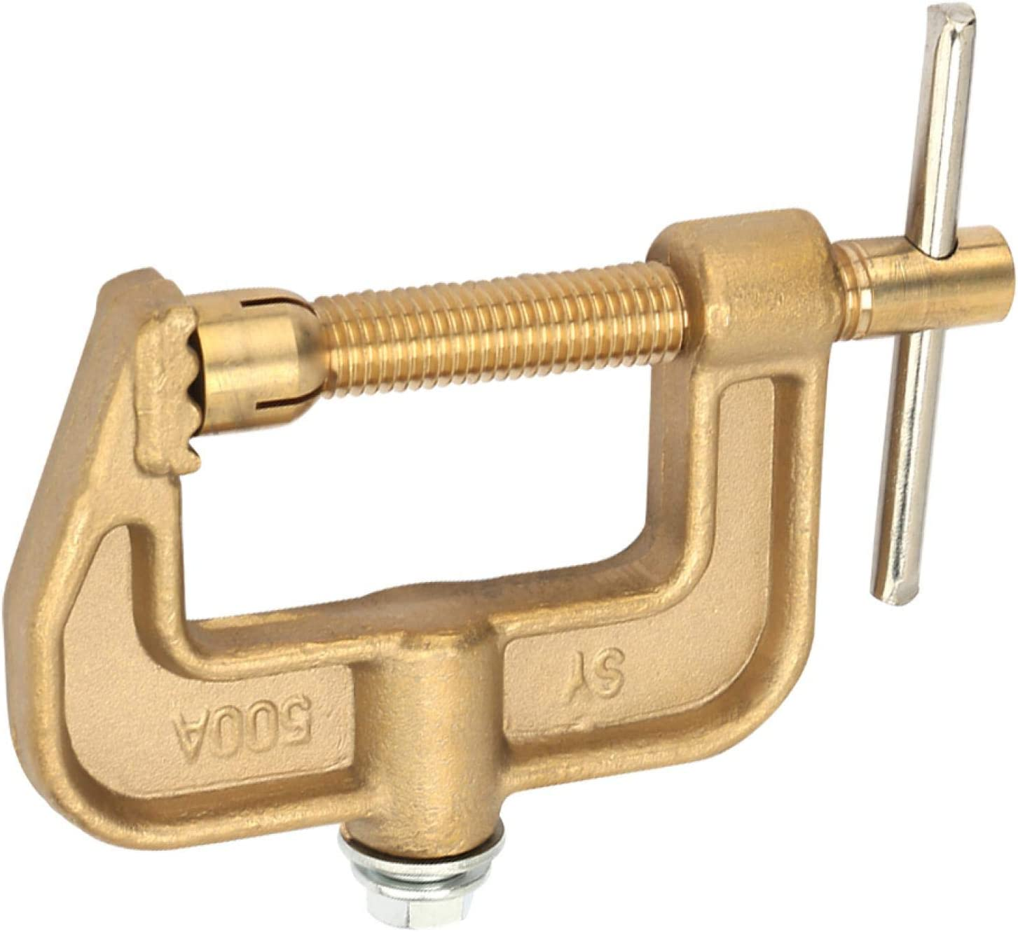 Boaby Ground Welding 500A Brass Material Classical G Shape Ground Welding Earth Clamp for Welding Machine