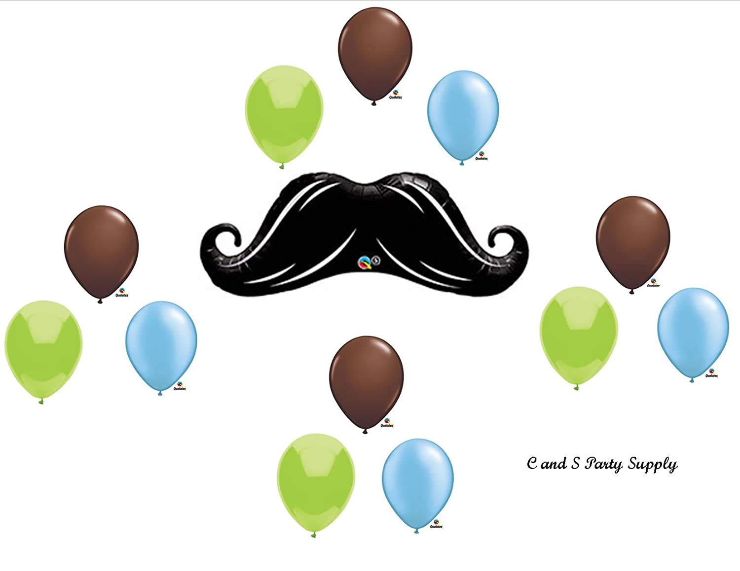Amazon DASHING LITTLE MAN MUSTACHE BABY SHOWER BIRTHDAY Balloons Decorations Supplies12 Pieces By Anagram Toys Games