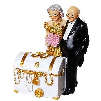 50 años bodas de oro Cofre del Tesoro Dinero regalo Hucha jubilar par us36: Hogar