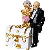 Cofre del tesoro hucha para dinero de regalo de aniversario de 50años, bodas de oro, con pareja, US36