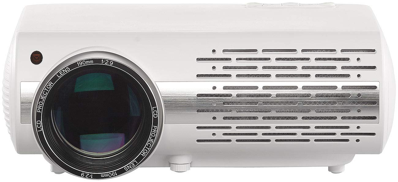 Projektor 1920 x 1080 Pixel SceneLights Home-Beamer: Full-HD LED-LCD-Beamer mit Media-Player 3.000 lm