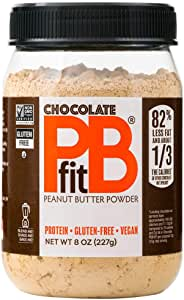PBfit All-Natural Chocolate Peanut Butter Powder, Produced by BetterBody Foods, 227g (8oz)