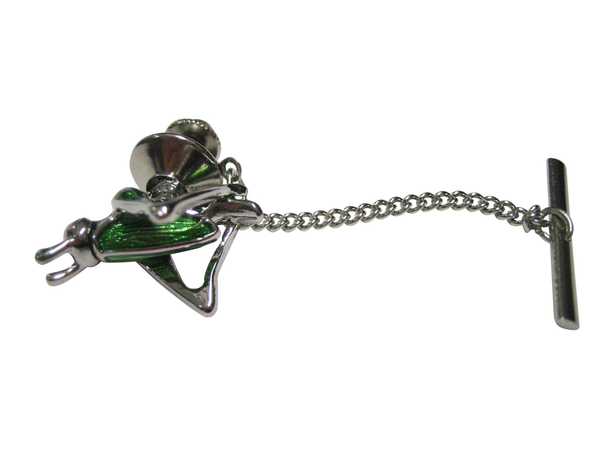 Kiola Designs Green and Silver Toned Locust Grasshopper Bug Insect Tie Tack by Kiola Designs (Image #1)