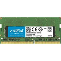 Crucial CT32G4SFD8266 32GB (1x32GB) DDR4 SODIMM 2666MHz CL19 1.2V PC4-21300 Dual Ranked Single Stick Notebook Laptop…