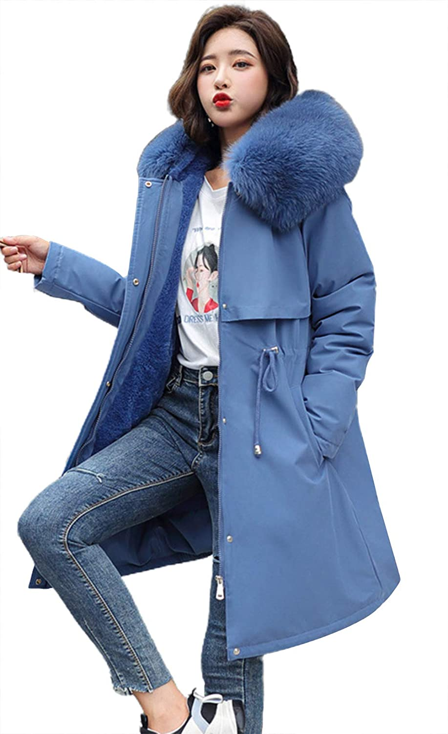chouyatou Fixed price for sale Women's Windproof Sherpa Limited time cheap sale Lined Long Winter Coat Parka