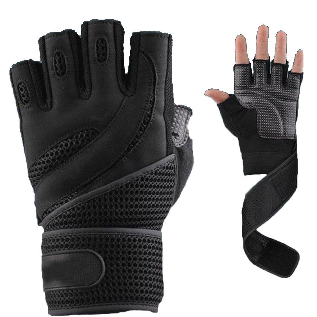 Sécurité des sports le support Bracelet gants chaud pour barre fixe-Noir M Luwu-Store