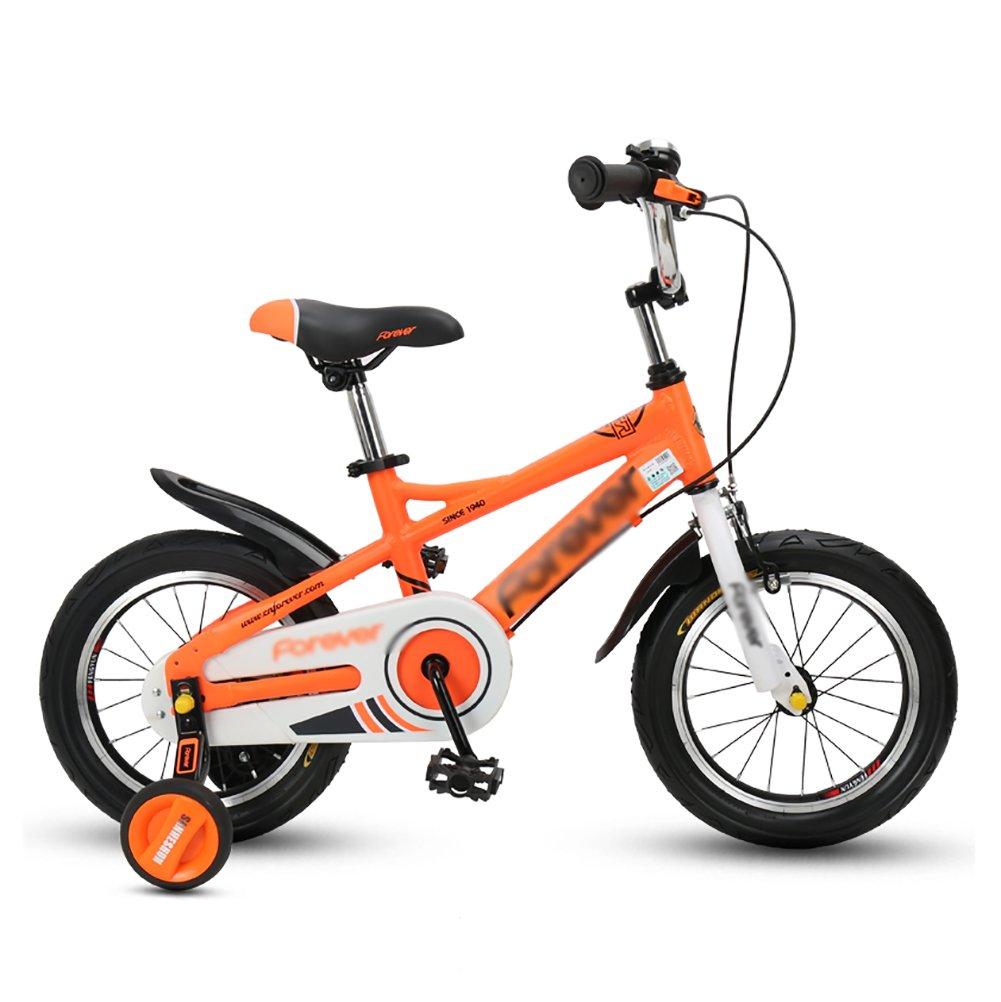 【激安大特価!】  子供の自転車マウンテンバイク3-4-6歳の子供の自転車14 16インチの男の子と女の子サイクリング赤ちゃんのベビーカーオレンジ inch B07DXK15FN 14 inch 14 B07DXK15FN, 中古テニスマーケット:5d931086 --- arianechie.dominiotemporario.com