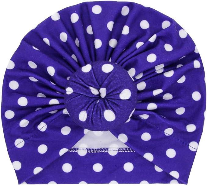 Choix de 4 couleurs Nouveau-né imprimé étoile Chapeau 100/% coton Bébé Taille unique