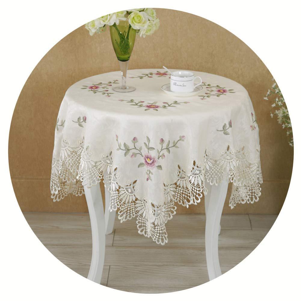 北欧 ヴィンテージ テーブル, レース 刺繍 テーブルカバー トッパー 装飾的です 防塵 テーブル クロス 食品 コーヒーの 紅茶 宴 パーティ -a 180x270cm(71x106inch) 180x270cm(71x106inch) A B07SNPLF2R