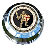 MotorDog69 Indian Gas Cap Coin Mount Set with Armor Of God for Chieftain, Chief Classic, Chief Vintage, Dark Horse, Roadmaster, Scout