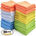 Car Polishing Rag Microfiber Cleaning Towel Detailing No Scratch Cloth Set Of 50
