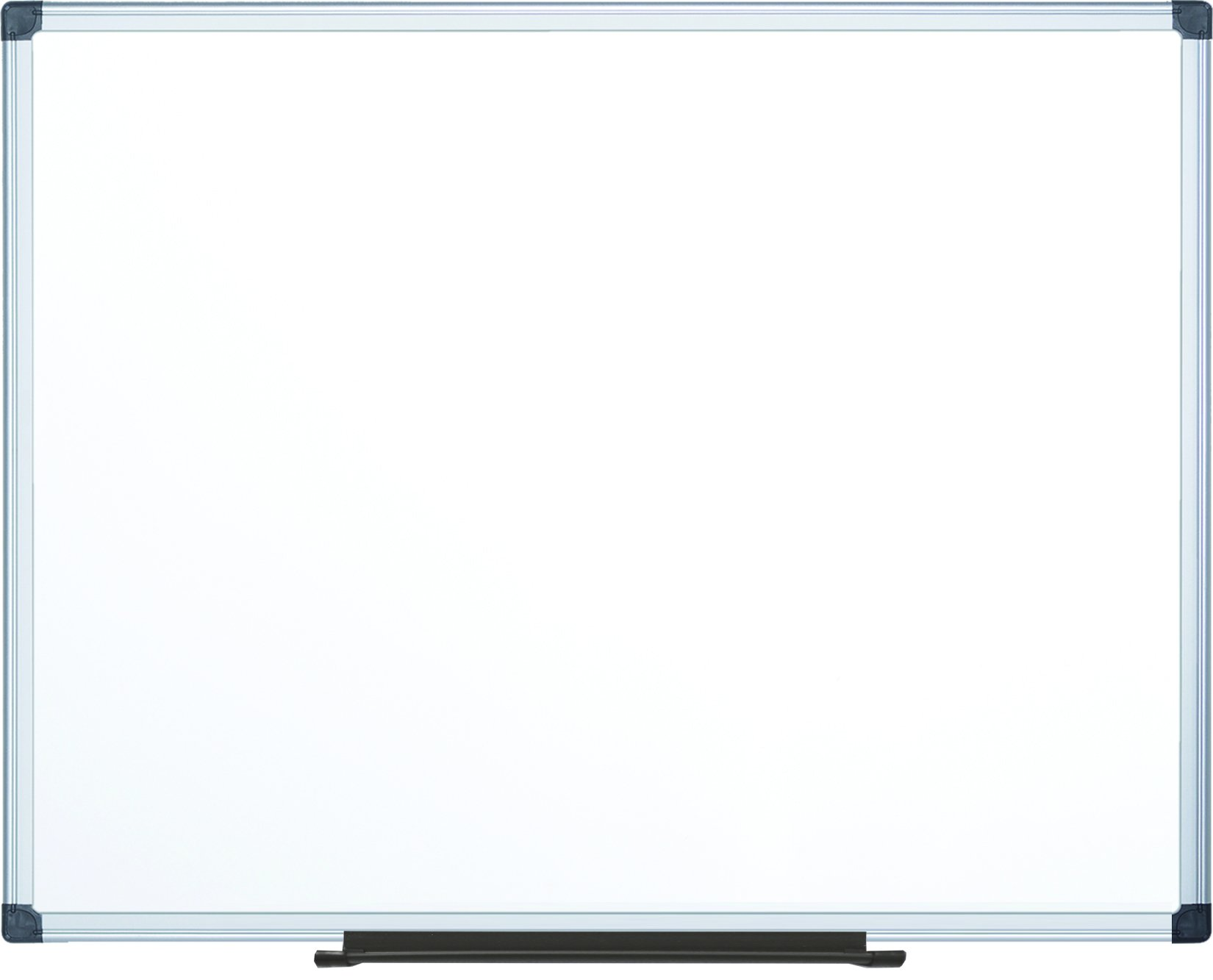 MasterVision Maya Melamine Dry Erase Board with Tray, 48'' x 72'', Whiteboard with Aluminum Frame