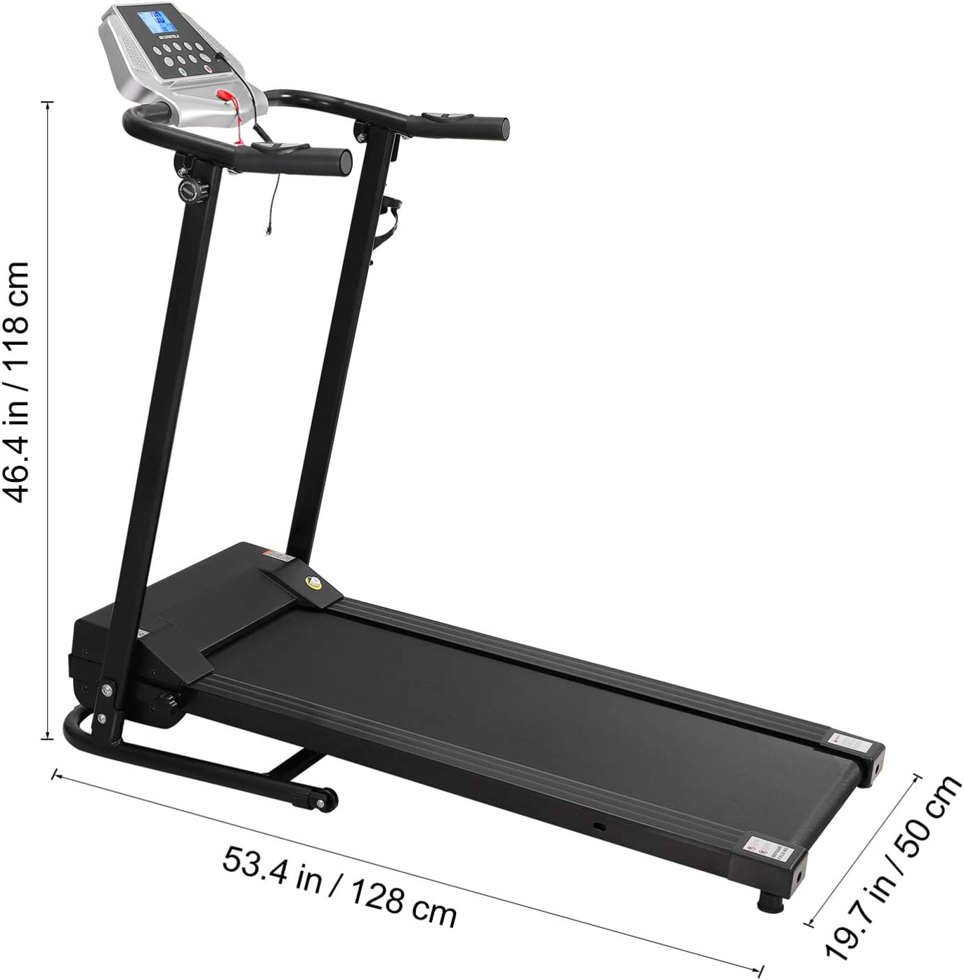 in Programs Household Exercise Equipment for Home Gym Office Indoor Jogging Shipping from UK/ï/¼/Œ UK PLUG Wakauto Foldable Treadmill Electric Motorised Running Machine with LCD Screen 12 Built