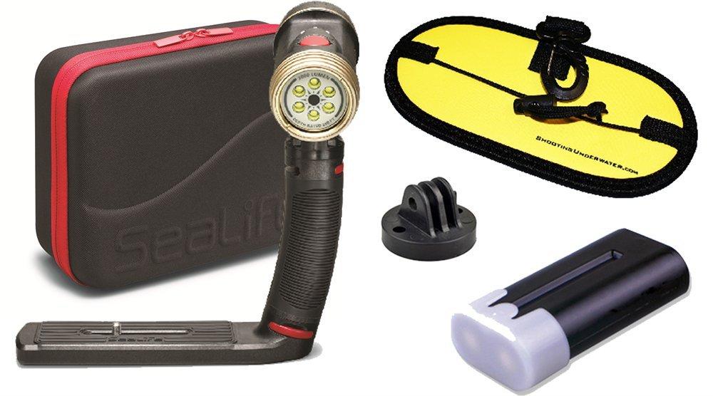 SeaLife Sea Dragon 2000 LED Video Light SL984 w/ spare battery + float strap