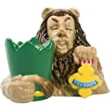 3.25 Inch Wizard of Oz Lion and Courage Badge Salt and Pepper Shakers